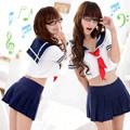 學生情人-二件式學生服#藍白