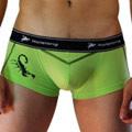【Holelong】男士低腰印花平角內褲-綠色(L)