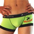 【Holelong】男士低腰印花平角內褲-綠色(XL)