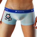 【Holelong】男士低腰印花平角內褲-藍色(L)